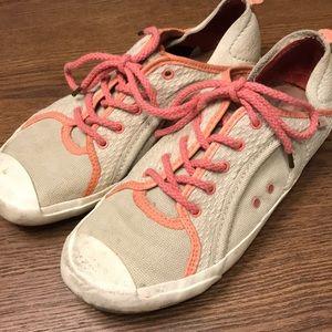 PATAGONIA Hemp Lace-Up Salmon & Cream Sneakers